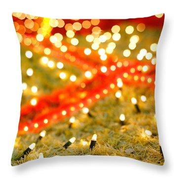 Outdoor Christmas Decorations Throw Pillow by Gaspar Avila