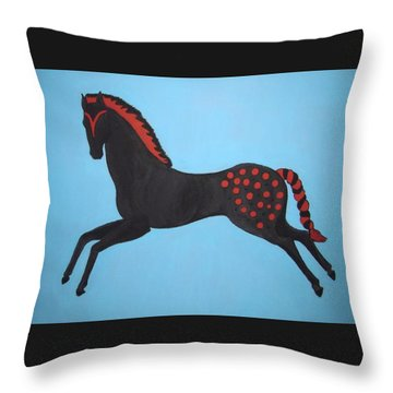Painted Pony Throw Pillow by Stephanie Moore