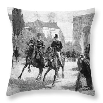 Paris: Bois De Boulogne Throw Pillow by Granger