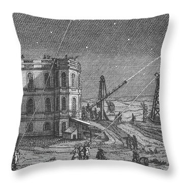 Paris Observatory, 17th Century Throw Pillow by Science Source