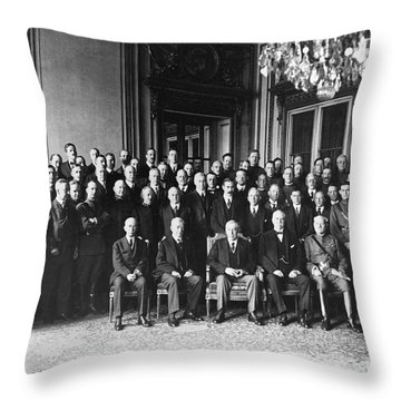 Paris Peace Conference Throw Pillow by Granger