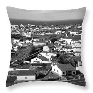 Parish In The Azores Throw Pillow by Gaspar Avila