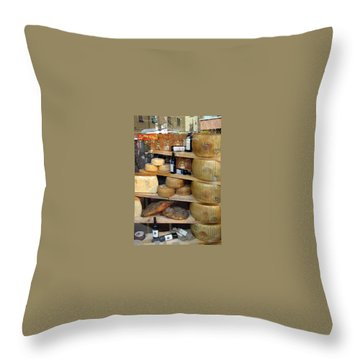 Parmesan Rounds Throw Pillow by Carla Parris