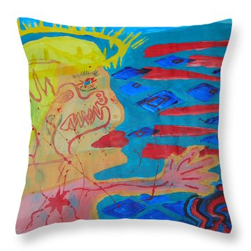 Past Their Mask - Hate Evil  Throw Pillow