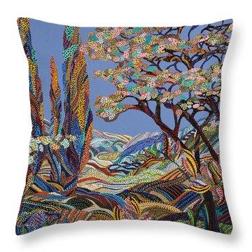 Pastorale Throw Pillow by Erika Pochybova