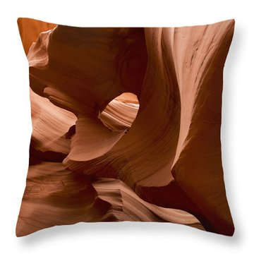 Patterns In The Smooth Sandstone Throw Pillow by Keith Levit
