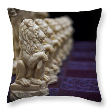 Pawns In A Row Throw Pillow by Doug Long