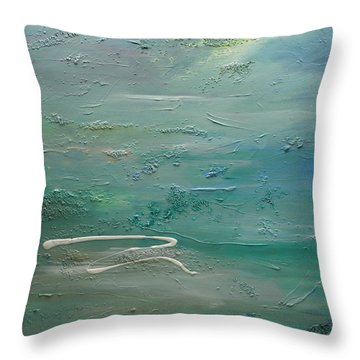 Pearls Of Tranquility Throw Pillow by Dolores  Deal
