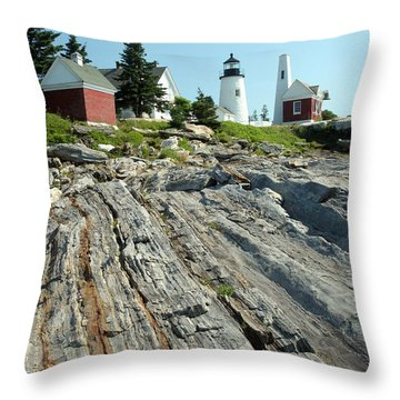Pemaquid Point Lighthouse Throw Pillow by Ted Kinsman