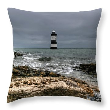 Penmon Point Throw Pillow by Adrian Evans