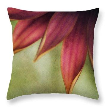Petals Throw Pillow by Bonnie Bruno