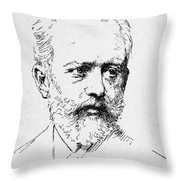 Peter Ilich Tchaikovsky Throw Pillow by Granger