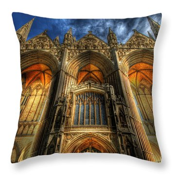 Peterborough Cathedral Throw Pillow