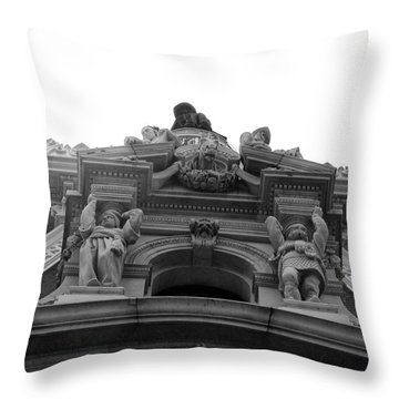 Philadelphia City Hall Looking Up Throw Pillow by Bill Cannon