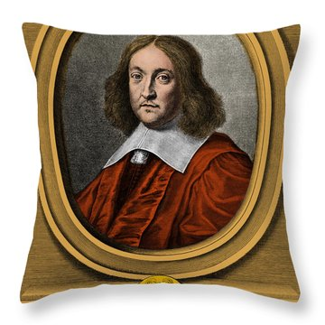 Pierre De Fermat, French Mathematician Throw Pillow by Photo Researchers, Inc.