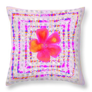 Throw Pillow featuring the digital art Pink On Pink by Barbara Moignard