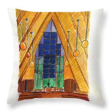Placerville Chapel Throw Pillow