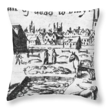 Plague, 1665 Throw Pillow by Science Source