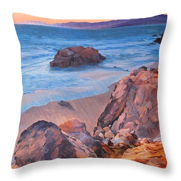 Point Lobos At San Francisco Throw Pillow