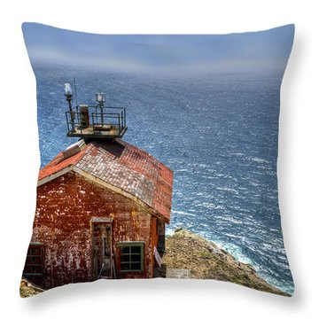 Point Reyes Lighthouse Throw Pillow by Diego Re