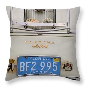 Porsche 1600 Super 1959 Rear View. Miami Throw Pillow