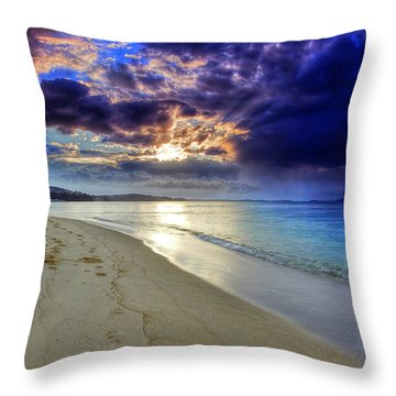 Throw Pillow featuring the photograph Port Stephens Sunset by Paul Svensen