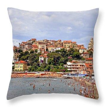 Porto Maurizio - Liguria Throw Pillow by Joana Kruse
