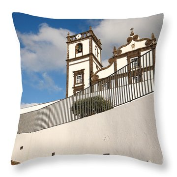 Portuguese Church Throw Pillow by Gaspar Avila