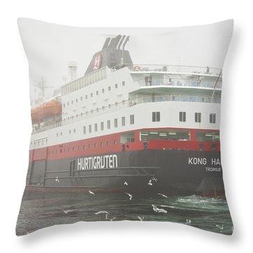 Post Ship  Throw Pillow by Heiko Koehrer-Wagner