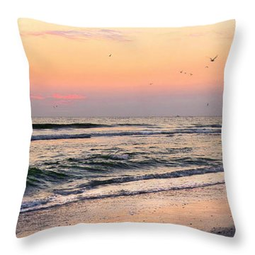 Postcard Throw Pillow by Angela Rath
