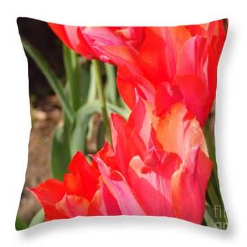 Praying Tulips Throw Pillow