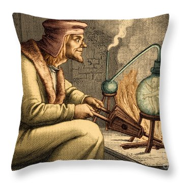 Preformationism 18th Century Throw Pillow by New York Public Library