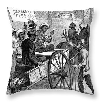 Presidential Campaign, 1876 Throw Pillow by Granger