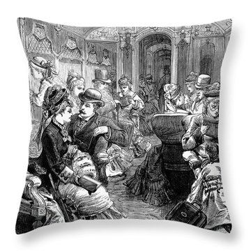 Pullman Car, 1876 Throw Pillow by Granger