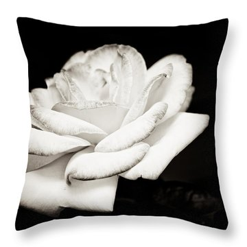 Throw Pillow featuring the photograph Pure Beauty by Sara Frank