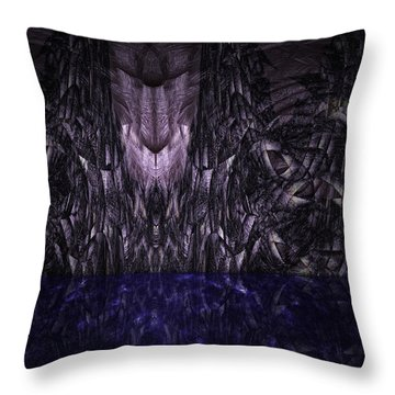 Purple Caverns Throw Pillow by Christopher Gaston