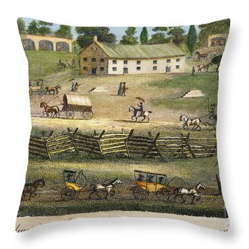 Quaker Meeting, 1811 Throw Pillow by Granger
