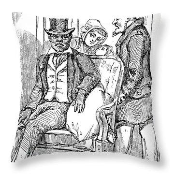 Railway Segregation, 1856 Throw Pillow by Granger