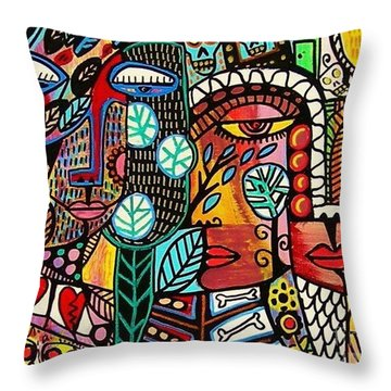 Rebirth Tree Of Life Throw Pillow