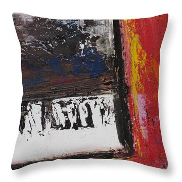 Red Piano Series 4 Throw Pillow by Anita Burgermeister