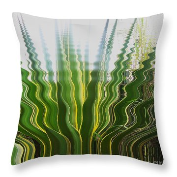Reflets Throw Pillow by Sylvie Leandre