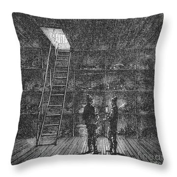 Refrigerated Ship, 1876 Throw Pillow by Granger