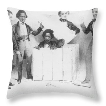 Resurrection Of Henry Box Brown Throw Pillow by Photo Researchers