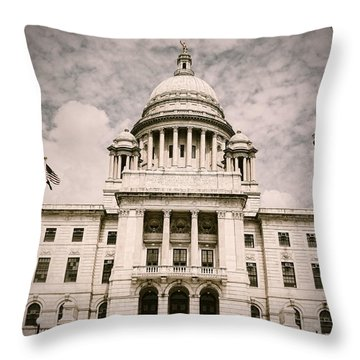 Ri State House Throw Pillow