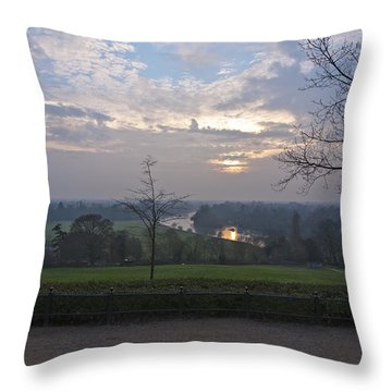 Throw Pillow featuring the photograph Richmond Sunset by Maj Seda