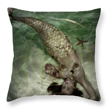 Throw Pillow featuring the photograph Ripple Magic  by Nada Meeks
