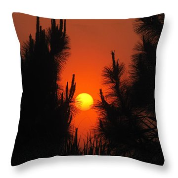Rise And Pine Throw Pillow