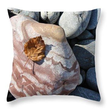 River Rocks Mountain Stream Throw Pillow