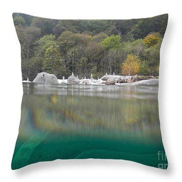 River With Trees Throw Pillow by Mats Silvan