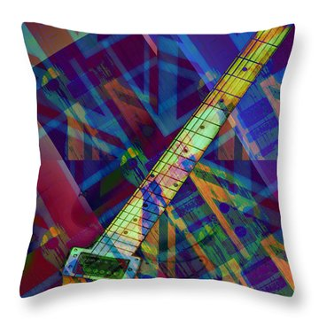 Rock And Roll Throw Pillow by Bill Cannon